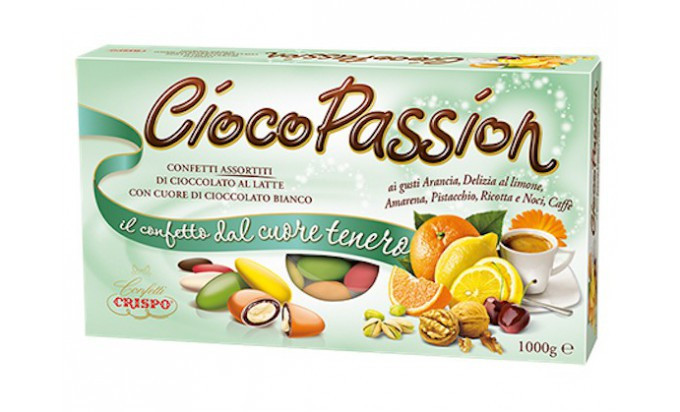 Цукерки шоколадні Crispo Cioco Passion Confetti Assortitti з фруктовими начинками, 1 кг