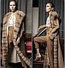 Пальто женское с мехом соболя