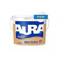 Aura Dekor Silikon Struktur 3,7 кг Белая краска акрилатная универсальная арт.4820166524150