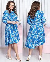 Платье большого размера / супер софт / Украина 36-03979, фото 1