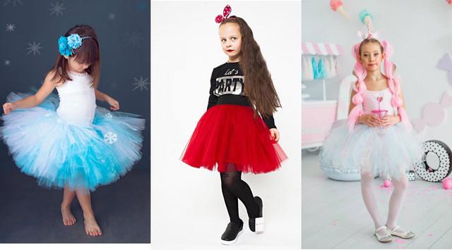 Фатиновая юбка для карнавального костюма снежинки фото