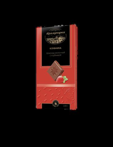 """Белорусский молочный шоколад """"С клубникой"""" 100 гр ТМ Коммунарка, фото 2"""