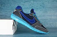 Кроссовки Nike Roshe Run женские из натуральной кожи бронзовые 041SA-W1