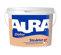 Aura Dekor Struktur Белая 2,5 л краска структурная акрилатная для фасадов и интерьера арт.4820166520534