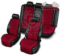 Чехлы CANTRA комплект на все сиденья с ушками ✓ цвет: бордовый