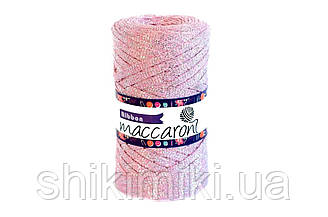 Трикотажный плоский шнур Ribbon Glitter, цвет Розово-сиреневый