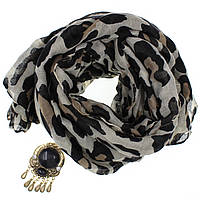 Шарф женский Квинт с косточками и кольцом для шарфа(платка)