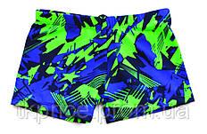 Подростковые купальные боксеры 8103 с 38 по 46 рр. синие с зеленым