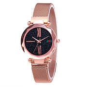 Опт Женские часы Starry Sky Watch на магнитной застёжке Золотые