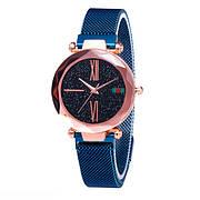 Опт Женские часы Starry Sky Watch на магнитной застёжке Синие
