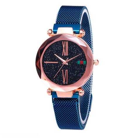 Женские часы Starry Sky Watch на магнитной застёжке Синие, фото 2