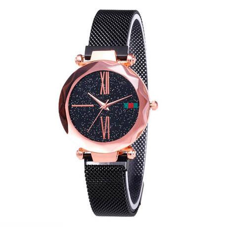 Жіночі годинники Starry Sky Watch на магнітній застібці Чорні, фото 2