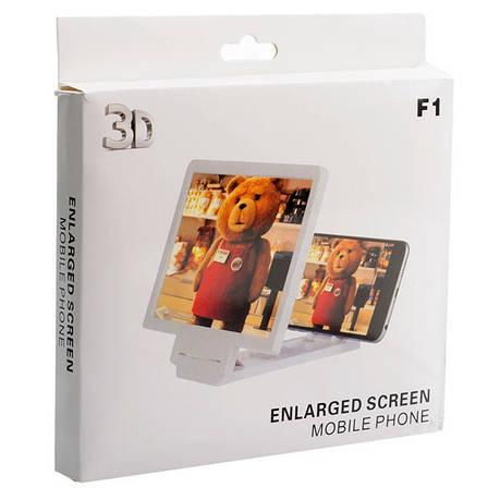 3D Подставка-увеличитель экрана для смартфона Белый, фото 2