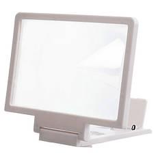 3D Подставка-увеличитель экрана для смартфона Белый, фото 3