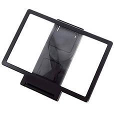 3D Подставка-увеличитель экрана для смартфона Черный, фото 3