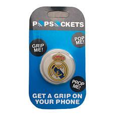 """Попсокет PopSocket 3D 3D """"Реал Мадрид"""" №37 - Держатель для телефона Поп Сокет в блистере с липучкой 3М, фото 3"""