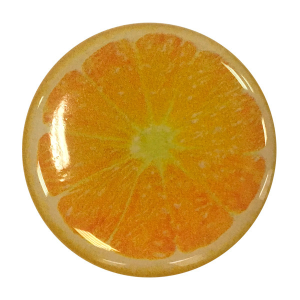 """Попсокет PopSocket 3D """"Кружок апельсина"""" №27 - Держатель для телефона Поп Сокет в блистере с липучкой 3М"""