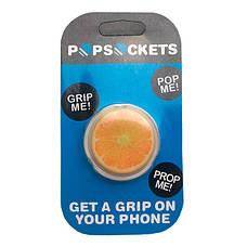 """Попсокет PopSocket 3D """"Кружок апельсина"""" №27 - Держатель для телефона Поп Сокет в блистере с липучкой 3М, фото 3"""