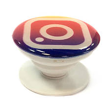 """Попсокет PopSocket 3D """"Инстаграм"""" №24 - Держатель для телефона Поп Сокет в блистере с липучкой 3М, фото 2"""
