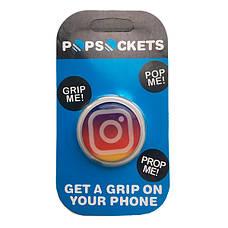 """Попсокет PopSocket 3D """"Инстаграм"""" №24 - Держатель для телефона Поп Сокет в блистере с липучкой 3М, фото 3"""