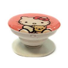 """Попсокет PopSocket 3D """"Китти"""" №20 - Держатель для телефона Поп Сокет в блистере с липучкой 3М, фото 2"""