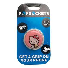"""Попсокет PopSocket 3D """"Китти"""" №20 - Держатель для телефона Поп Сокет в блистере с липучкой 3М, фото 3"""