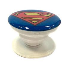 """Попсокет PopSocket 3D """"Супермен"""" №18 - Держатель для телефона Поп Сокет в блистере с липучкой 3М, фото 2"""