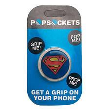 """Попсокет PopSocket 3D """"Супермен"""" №18 - Держатель для телефона Поп Сокет в блистере с липучкой 3М, фото 3"""