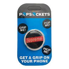 """Попсокет PopSocket 3D """"Supreme"""" №12 - Держатель для телефона Поп Сокет в блистере с липучкой 3М, фото 3"""