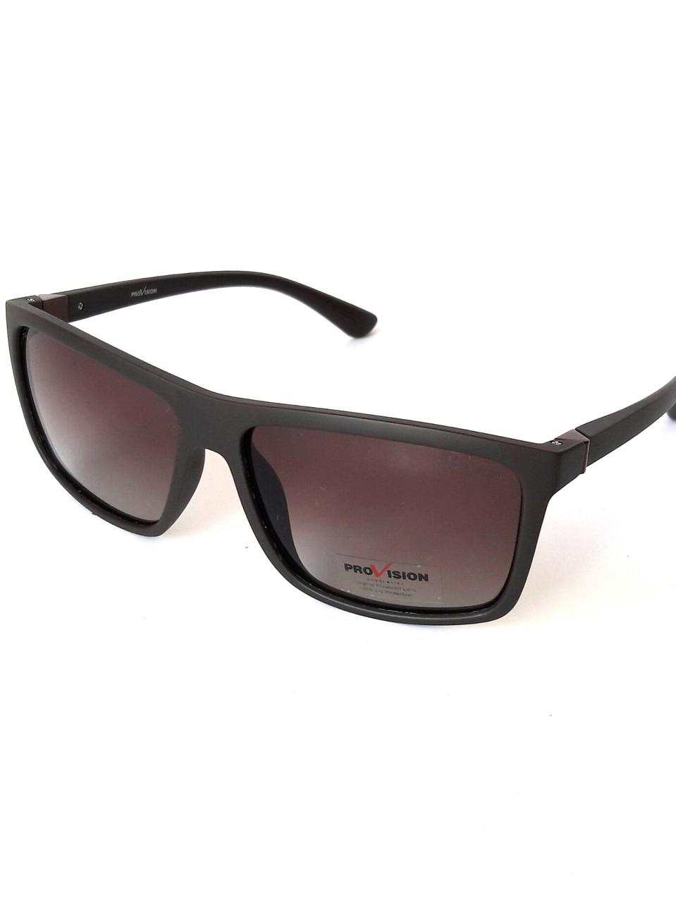 Солнцезащитные очки унисекс. Высокое качество, матовый чёрный пластик, Provision
