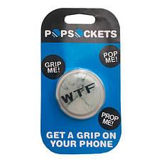 """Попсокет PopSocket 3D """"WTF"""" №8 - Держатель для телефона Поп Сокет в блистере с липучкой 3М, фото 3"""