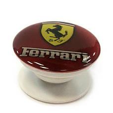 """Попсокет PopSocket 3D """"Ferrari"""" №5 - Держатель для телефона Поп Сокет в блистере с липучкой 3М, фото 2"""