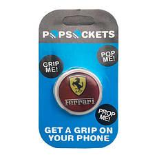 """Попсокет PopSocket 3D """"Ferrari"""" №5 - Держатель для телефона Поп Сокет в блистере с липучкой 3М, фото 3"""