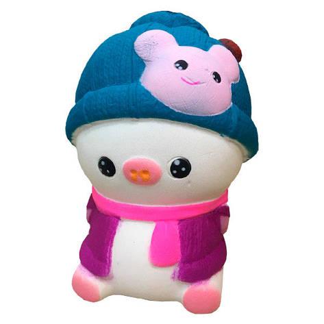 Мягкая игрушка антистресс Сквиши Squishy Свинка в розовой жилетке №58, фото 2