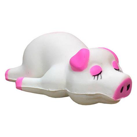 Мягкая игрушка антистресс Сквиши Squishy Свинка Белая №55, фото 2