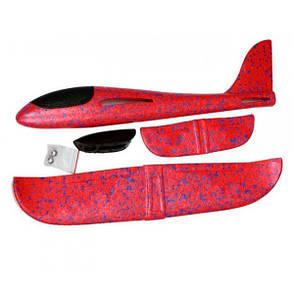 Самолет планер светящийся из пенопласта, 48 см Красный, фото 2