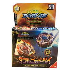 Волчек BEYBLADE S3 Двойное затмение Сан-Мун B-00-D (Beyblade SUN AND MOON B-00-D ) с ручкой и пусковым устройством, фото 2