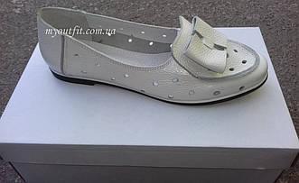 Женские туфли кожаные Белые Размер 37