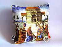 Эксклюзивная декоративная подушка для дома / интерьера церкви с библейским сюжетом Вручение ключей Св. Петру