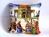 Эксклюзивная декоративная подушка для дома / интерьера церкви с библейским сюжетом Вручение ключей Св. Петру, фото 2