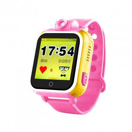 Детские часы с GPS SMART BABY WATCH Q200 Розовые, фото 2