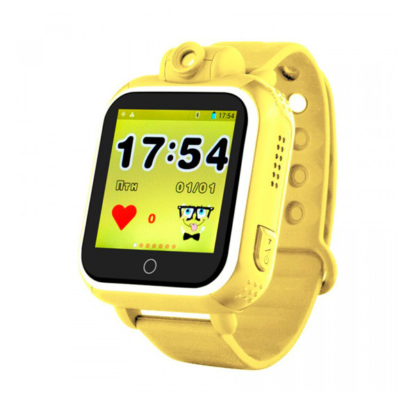 Детские часы с GPS SMART BABY WATCH Q200 Желтые