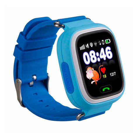 Детские часы с GPS SMART BABY WATCH 100 (Q90) Голубые, фото 2