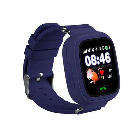 Детские часы с GPS SMART BABY WATCH 100 (Q90) Темно-Синие, фото 2