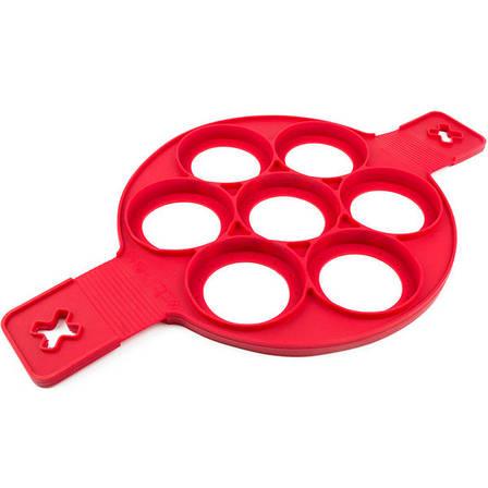 Форма силиконовая для приготовления оладий Flippin Fantastic Красный, фото 2
