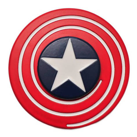 Спиннер Spinner Щит Капитана Америка металл №91, фото 2