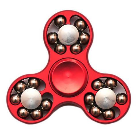 Спиннер Spinner стальной с шариками Красный №53, фото 2