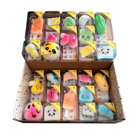 Мягкая игрушка антистресс Сквиши Squishy Набор брелков, фото 2