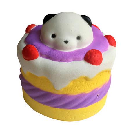 М'яка іграшка антистрес Сквиши Squishy Торт з Мишком, фото 2