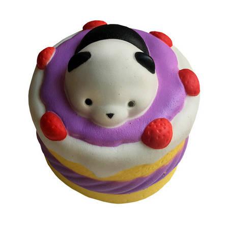 Мягкая игрушка антистресс Сквиши Squishy Торт с Мишкой, фото 2